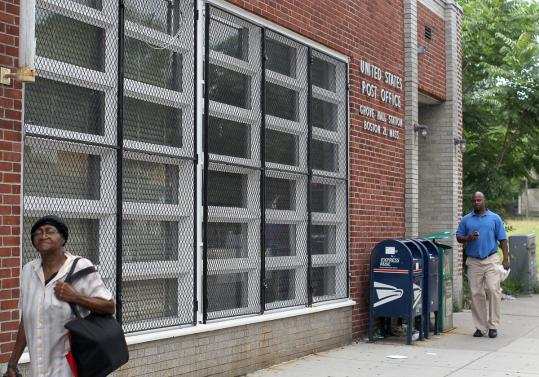The Grove Hall Post Office in Dorchester is among about 32,000 locations the Postal Service will review for possible closure.