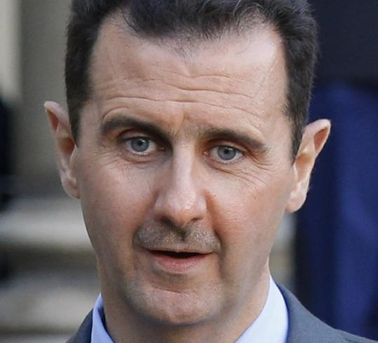 The regime of President Bashar Assad (left) has unleashed a brutal crackdown on the four-month-old uprising.