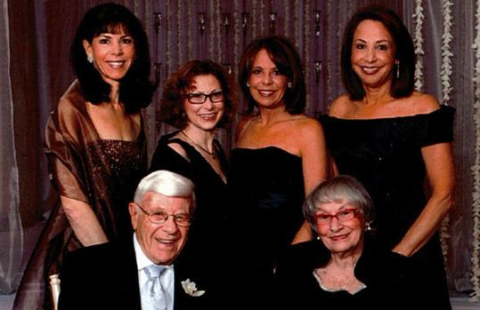 Ralph and Harriett Kaplan of Swampscott and their daughters (standing, from left), Judy Mishkin, Susan Kaplan, Anne Selby, and Roz Moore, are among those being honored.