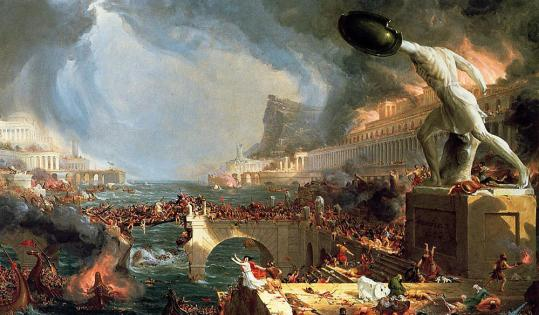 One of the five paintings in Thomas Cole's ''The Course of Empire'' series, ''Destruction,'' which inspired Nell Shaw Cohen's work for string quartet.