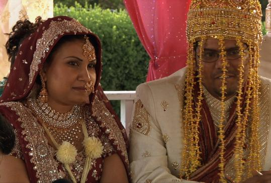 In Jill Andresevic's documentary ''Love Etc.,'' newlyweds Chitra (left) and Mahendra are filmed before and after their wedding.