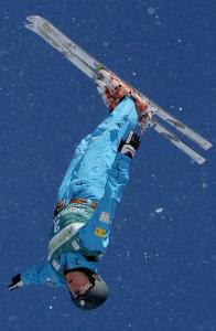 Jaret Peterson practiced his aerials at Deer Valley in 2009.