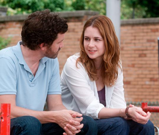 "Rob Benedict and Jenna Fischer in ""A Little Help.''"