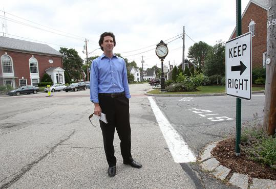Norwell's town planner, Chris Di Iorio, is on a mission to remake the center of town into a more inviting and pedestrian-friendly space.