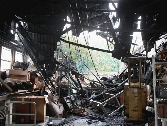 The gas tanker crash on Route 1 in Saugus in the early hours of July 23 caused an explosion and fire that destroyed a greenhouse on Vine Street.