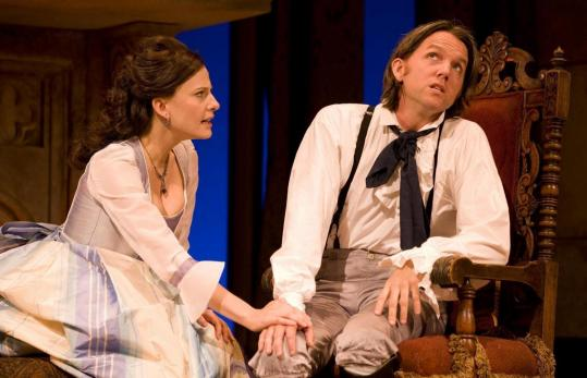"Mia Barron and Jon Patrick Walker in ""She Stoops to Conquer'' at the Williamstown Theatre Festival."