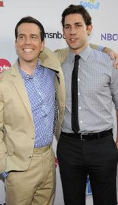 "Ed Helms (left) and John Krasinski of ""The Office'' at the NBC Universal Press Tour All-Star Party."