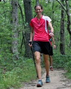 Jennifer Pharr Davis set off down the Appalachian Trail in Maine on June 16.