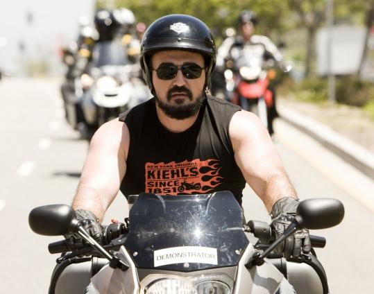 Kiehl&#8217;s Chris Salgardo leads a charity ride.