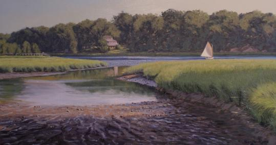 "On display at the Shipyard Gallery are ""Light on the Marsh, Cohasset.''"