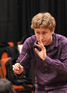 "A February audition helped Joshua Weilerstein (pictured at NEC) become a New York Philharmonic assistant conductor. ""How fantastic that was,'' he said."