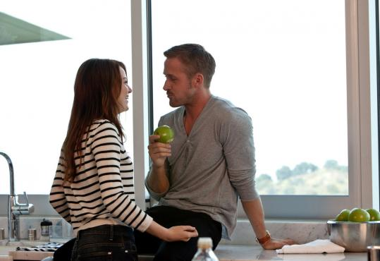 "Emma Stone and Ryan Gosling costar in ""Crazy, Stupid, Love.'', a movie about a sexoholic that doesn't actually have a lot of sex in it."