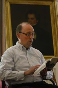 "Mark Ballard puts voice to page during a marathon reading of ""The House of the Seven Gables.''"