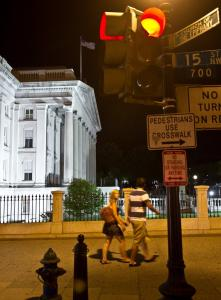 The Treasury Department, seen in the background, pointed out a $2 trillion calculating mistake to Standard & Poor's.