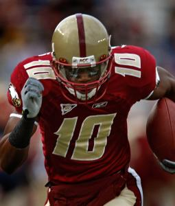 BC's Colin Larmond Jr. hopes to return to the form that led to this touchdown in 2009.