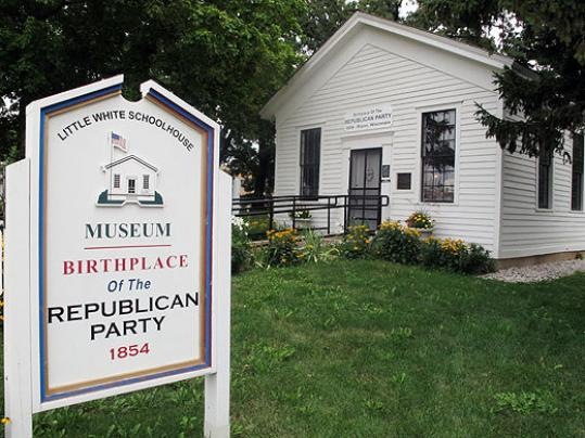 The schoolhouse where the Republican Party was founded is one of the polling sites in a Wisconsin Senate district where there is a recall election tomorrow.