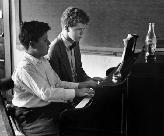 """Clemens Kalischer's photos of Marlboro Music include """"James Levine With Van Cliburn.''"""