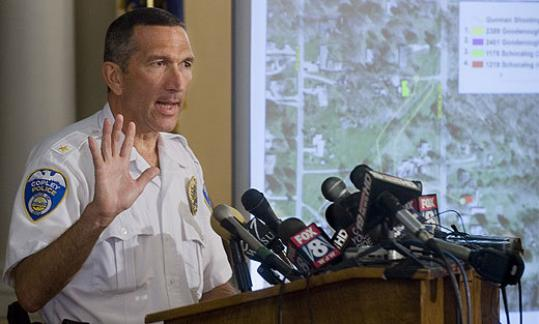Michael Mier, police chief of Copley, Ohio, detailed the slaying of seven people.