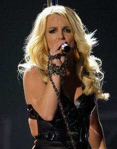 Britney Spears, shown at a May performance, played a sold-out TD Garden last night with little pep.