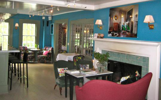 The lounge at The Living Room, where James Carpenter is chef. The trendy restaurant is located in The Maidstone hotel.