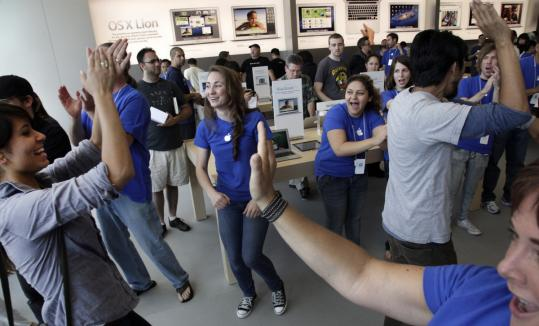 Apple has continued to open outlets across the United States, including its 50th in California late last month in Glendale. Runaway sales of iPhones and iPads have helped the company double its net income to $7.31 billion.
