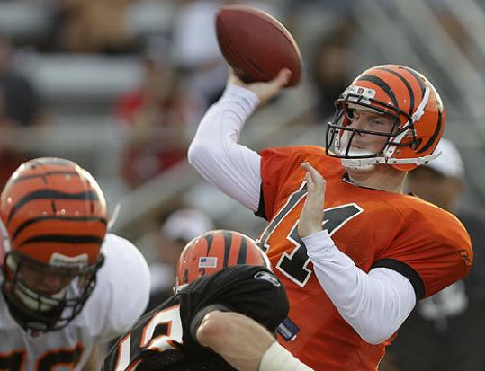 "Rookie quarterback Andy Dalton will start for the Bengals Friday. Coach Marvin Lewis said the second-round pick has shown ""exceptional"" poise."