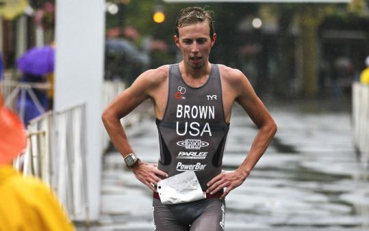 Ethan Brown of Lowell finished first at the third annual Gloucester Fisherman Triathlon last weekend, beating the second-place finisher by two minutes.