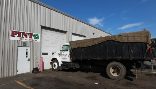Stolen dumpsters were found on a property at an industrial park at 58 Pulaski St. in Peabody, where Pinto Recycling has an office. The trash receptacles are worth more than $100,000.