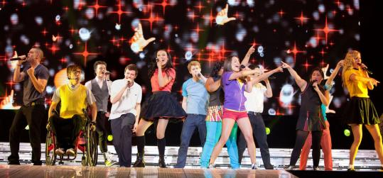 """ADAM ROSE/20TH CENTURY FOX The kids from """"Glee'' the television show perform a song during a scene from """"Glee: The 3D Concert Movie.''"""