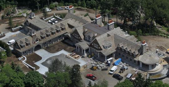 Above: An aerial view of John Henry's new home in Brookline. Below: Governor Deval Patrick's house in Richmond.