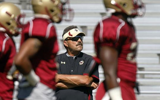 In his third year as head coach, Frank Spaziani likes the direction his Eagles are taking.