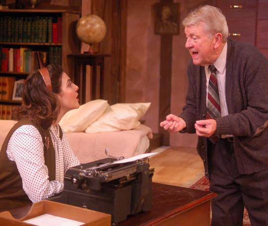 "Becky Webber and Richard Mawe star in ""Trying'' at Gloucester Stage starting today. The play is about a young secretary working for the elderly Francis Biddle, attorney general under FDR."