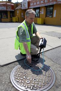 Mark McDonald used a device to check for gas leaks in Dorchester.