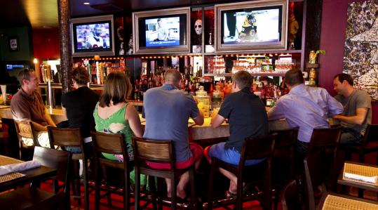 Patrons can grab a beer and watch a game in front of flat-screen TVs or sample some of the eclectic offerings at Vito's Tavern.