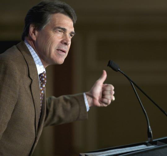 Rick Perry, who spoke to South Carolina Republicans in Columbia yesterday, underwent an unproven stem cell treatment for his back, which some doctors believe poses risks.