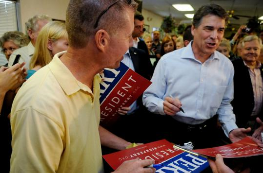 Governor Rick Perry's bid for the Republican presidential nomination has been fueled by generous campaign donations from many Texas executives who do business with the state.
