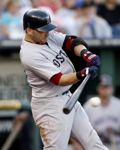 Marco Scutaro grounds into a double play in the third, driving in a run but hurting a Sox rally.