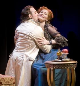 KEVIN SPRAGUE Graham Rowat and Rachel York in the musical &#8220;The Game,&#8217;&#8217; at the Barrington Stage Company.
