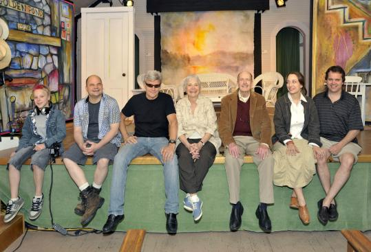 "Ernest Thompson (in sunglasses), who wrote ""On Golden Pond'' when he was 28, and has since worked on several different productions, is directing the play for the first time with a professional cast in the Little Church Theater in Holderness, N.H."