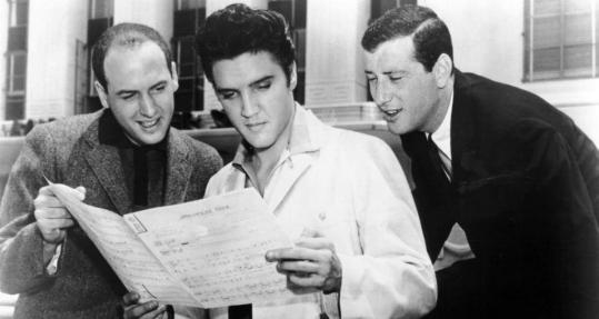 "Jerry Leiber (right), and Mike Stoller went over ""Jailhouse Rock'' with Elvis Presley."