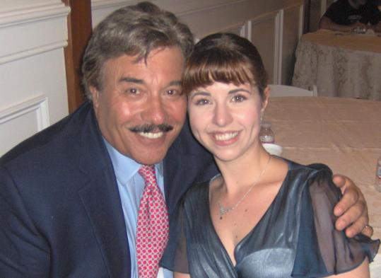 "Katie Lynch Koglin and Tony Orlando on the set of ""Donny's Boy.''"
