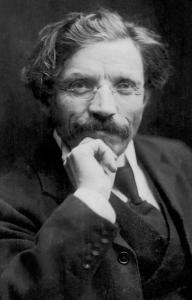 "A 1907 image of Sholem Aleichem, the subject of ""Laughing in the Darkness.''"