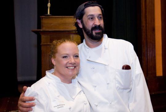 Tiffani Faison and Frank Vasello at the Taste of Provincetown.
