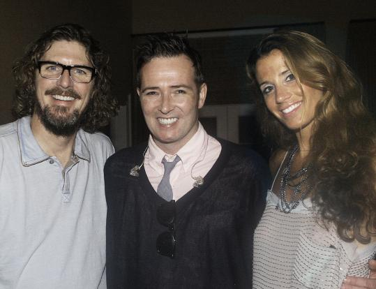 (From left): Ernie Boch Jr., Scott Weiland, and Enza Sambataro.