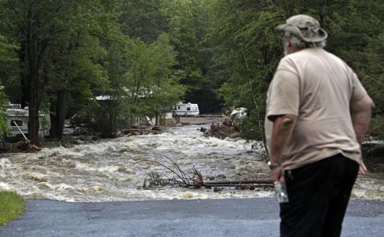 Walker Island Campground in Chester had been evacuated on Saturday, just hours before the flooding yesterday morning.