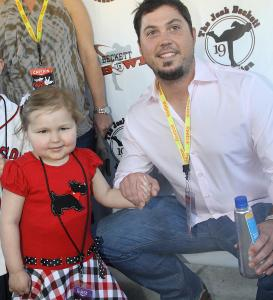 Josh Beckett with Avalanna Routh of Merrimac at Lucky Strike Lanes.