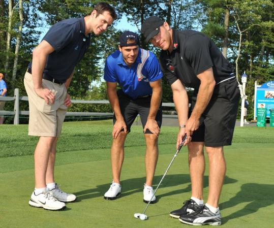 Daniel Paille, David Krejci, and Shawn Thornton of the Boston Bruins.