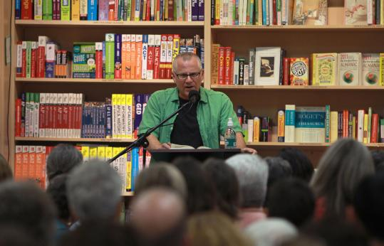 "Author Tom Perrotta reading from his book ""The Leftovers'' at Porter Square Books in Cambridge on Tuesday."