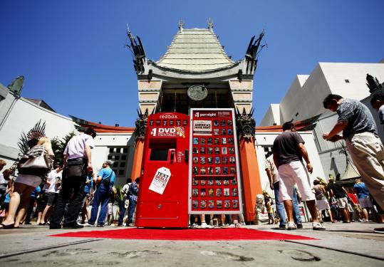 Redbox has rental kiosks in 33,300 locations, including this site outside Grauman's Chinese Theatre in Los Angeles.