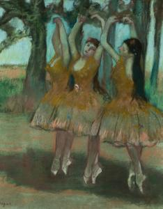 "EARLE I. MACK COLLECTION Edgar Degas's ""Dancing Ballerinas'' is part of the ""Degas and the Ballet'' exhibit in London."